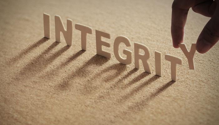 Let's restore integrity